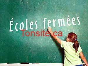 Des centaines d'écoles fermées à travers le Québec. La liste: