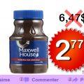 Café instantané Maxwell House à 2.77$ au lieu de 6,47$