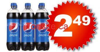Emballage de 6 bouteilles de Pepsi ou Coca Cola (710 ml) à 2.49$ seulement