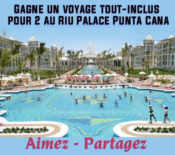 concours gagne un voyage tout inclus pour 2 au riu palace punta cana. Black Bedroom Furniture Sets. Home Design Ideas