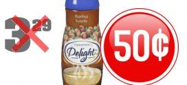 Crème à café International Delight à 50¢ au lieu de 3,29$
