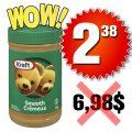Beurre d'arachide Kraft (1 kg) à 2,38$ au lieu de 6.98$