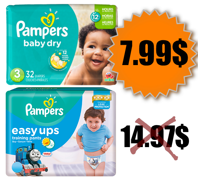 Emballage de couches pampers ou culottes easy ups au lieu de - Couches culottes pampers ...