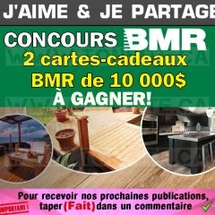 Concours BMR: Gagnez 1 des 2 cartes-cadeaux BMR de 10 000$