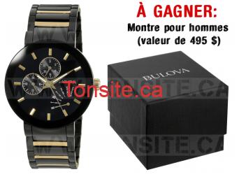 Concours: Gagnez une montre pour hommes en acier inoxydable (valeur de 495$)