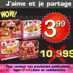 Produits de poulet pané surgelés Flamingo à 3,99$ au lieu de 10,99$