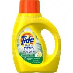 Détergent à lessive Tide Simply Clean & Fresh (25 brassées) à 94¢ au lieu de 4,99$