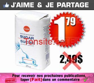 Sucre granulé Lantic de 2kg à 1,79$ seulement!
