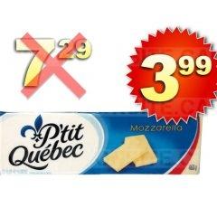 Barres de fromage P'tit Québec à 3,99$ au lieu de 7,29$