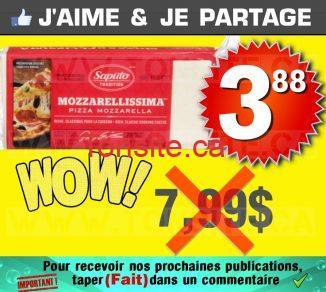 Barre de fromage Mozzarellissima Saputo (500 g) à 3,88$ au lieu de 7,99$