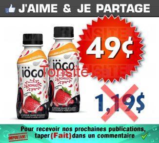 Yogourt à boire IÖGO à 49¢ seulement!
