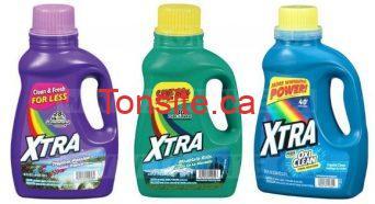 Détergent à lessive Xtra (50 brassées) à 1,99$ au lieu de 4$