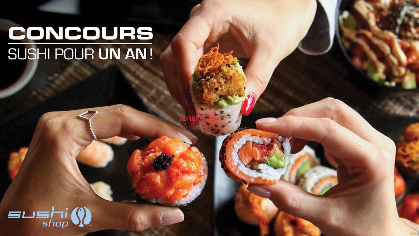 Sushi shop concours - Sushi Shop: Gagnez 1 an de Sushi GRATUITS!