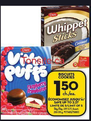 WHIPPET150 - Biscuit Whippet à 1.50$ au lieu de 3.77$