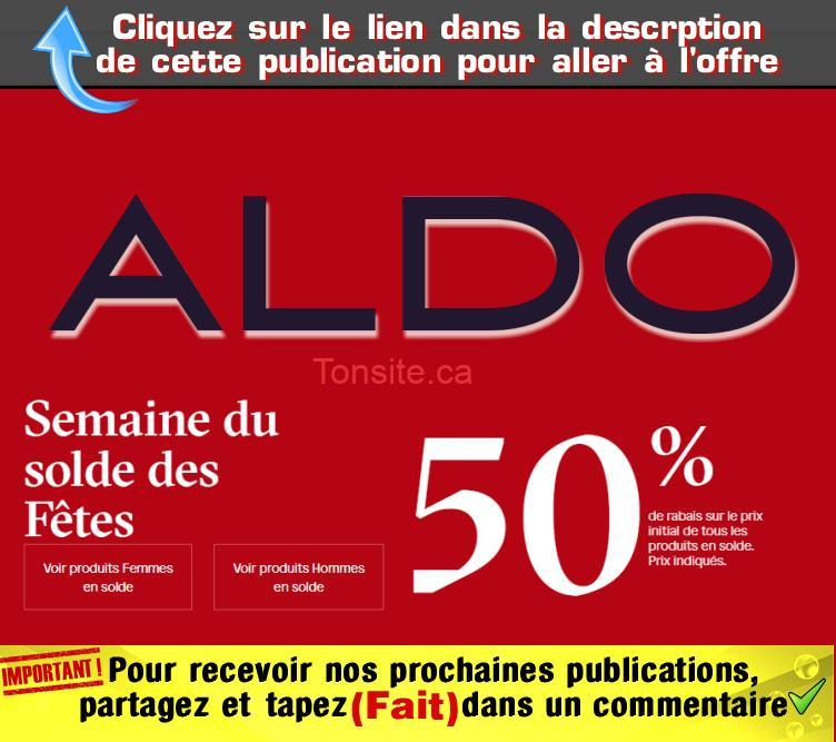 aldo 50 jpg - Soldes d'après Noël chez Aldo: 50% de rabais + livraison gratuite