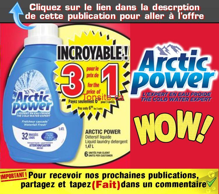arctic 233 - Détersif liquide Arctic Power à 2,33$ au lieu de 6,99$ (sans coupon)