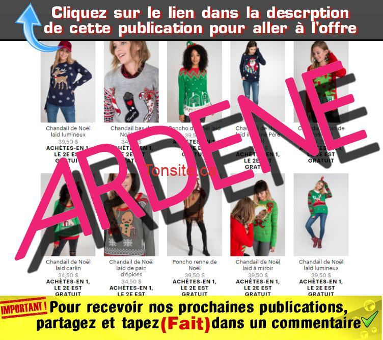 ardene promo1 - Ardene: Achetez un chandail de Noël et obtenez le 2eme gratuit! (livraison gratuite)