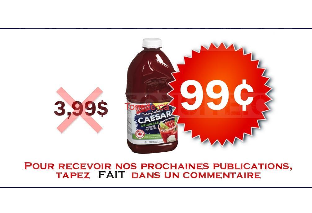 Cocktail Caesar française French's (1,89 Litre) à 99¢ au lieu de 3,99$
