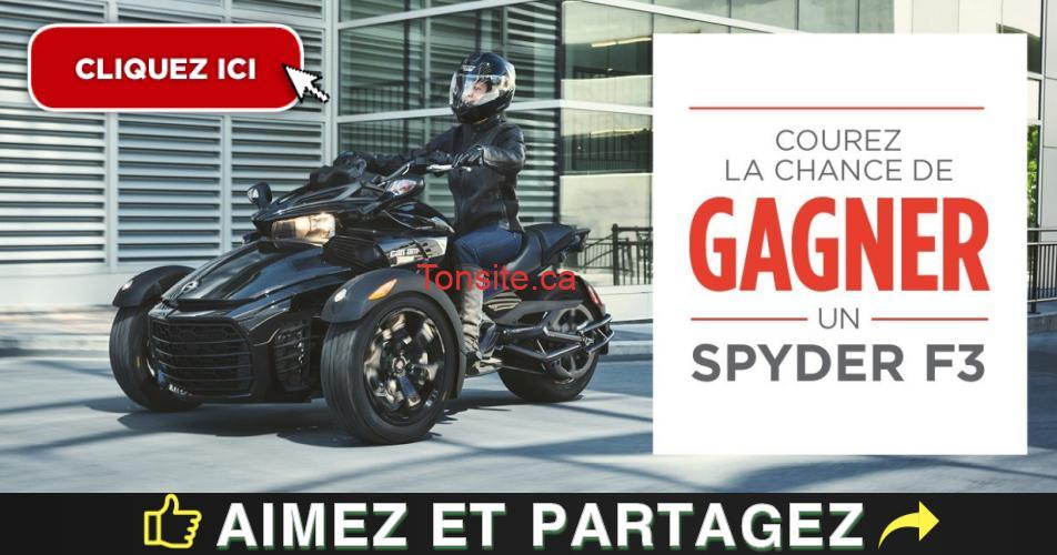 can am concours - Concours Bombardier: Participez pour gagnez un Can-Am Spyder