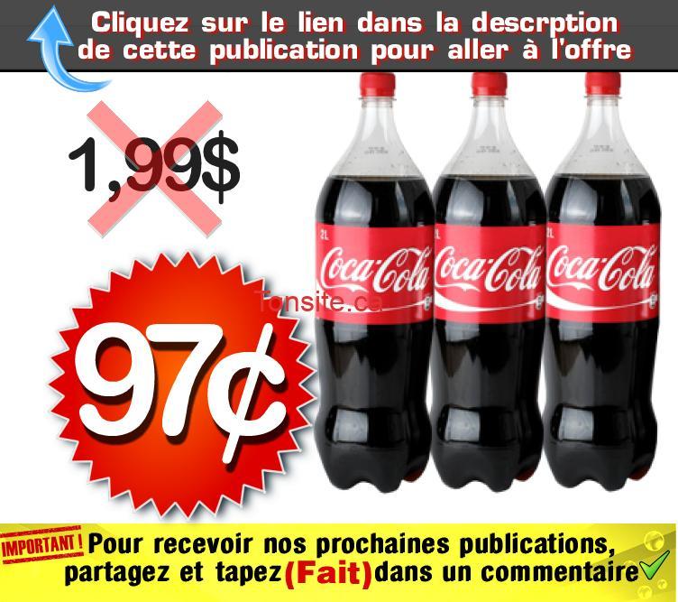 coca 97 199 - Coca Cola (2 litres) à 97¢ seulement!