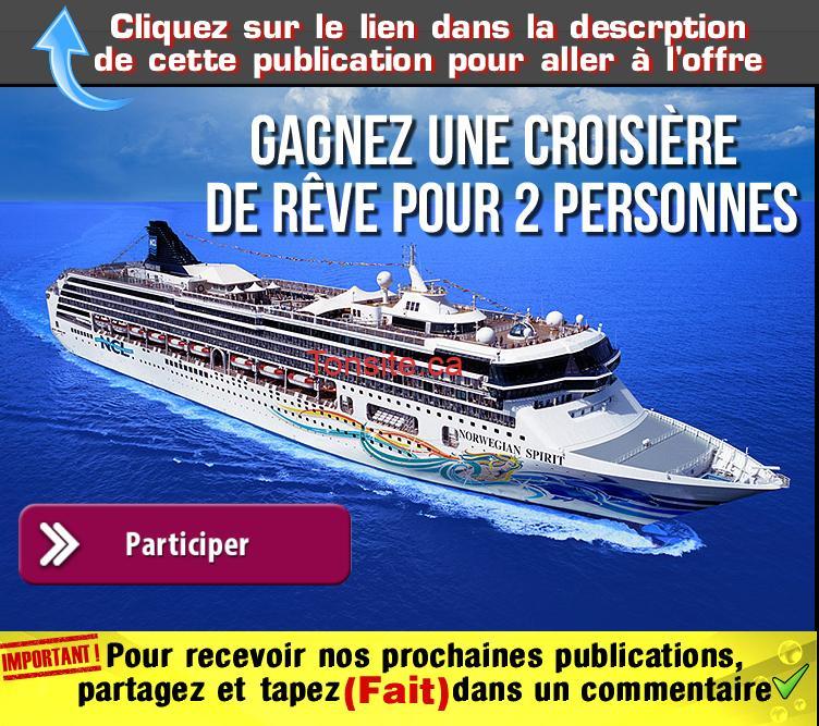 dumoulin concours - Gagnez une croisière de rêve pour 2 personnes sur un navire Norwegian Cruise Line