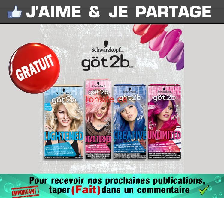 Obtenez gratuitement le vaporisateur colorant pastel ou la crème colorante semi-permanente de göt2b