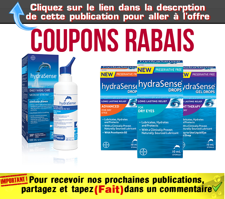 hydrasense coupons jpg - Coupons rabais sur les produits HydraSense