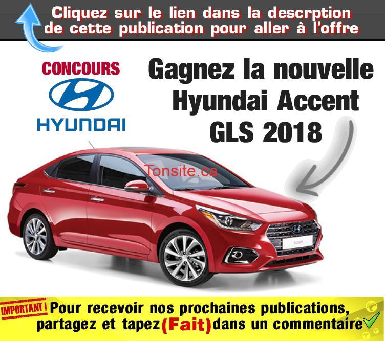 hyundai concours - Concours Hyundai: Gagnez la nouvelle Hyundai Accent GLS 2018