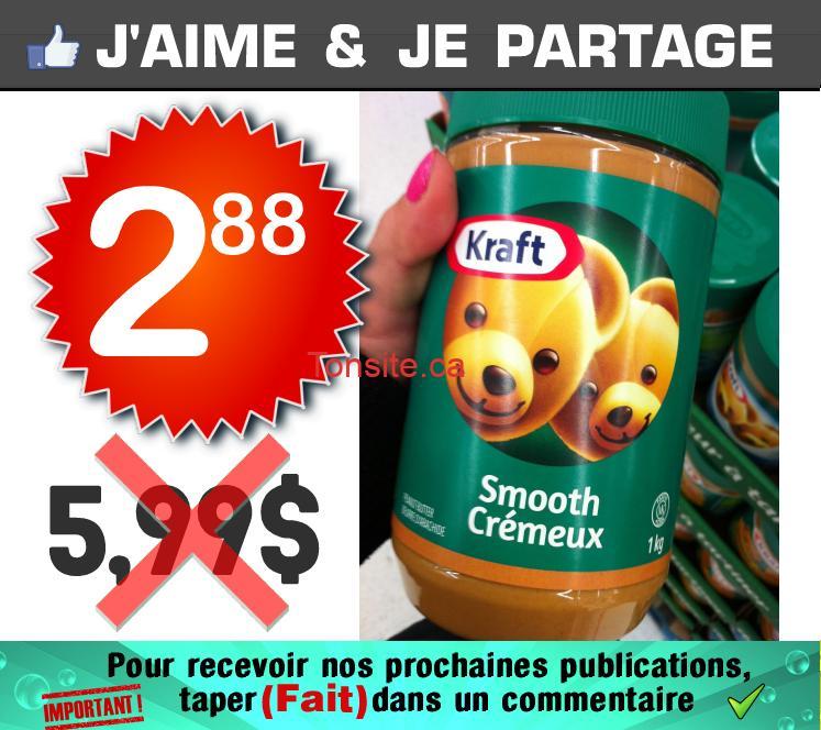 kraft 288 599 - Beurre d'arachide KRAFT (1kg) à 2,88$ au lieu de 5,99$