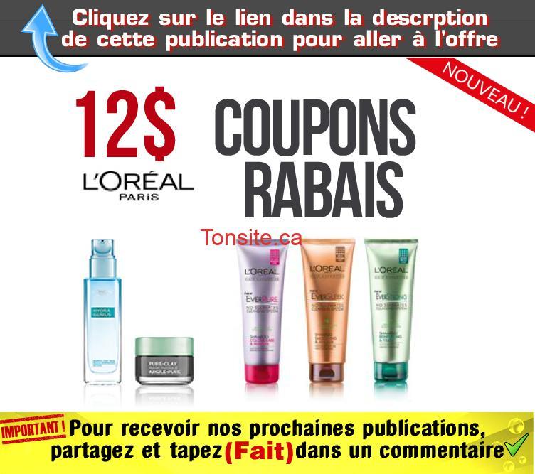 loreal coupons12 - Coupons rabais L'Oréal