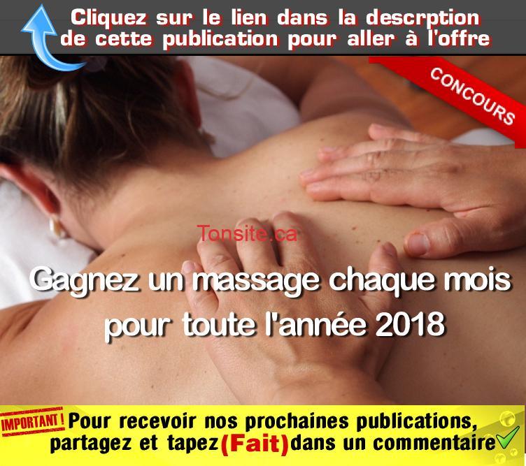 massage concours - Concours: Gagnez un massage chaque mois pour toute l'année 2018