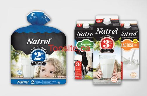 natrel lait1 - Coupon rabais de 1$ sur un produit Natrel 2L ou 4L