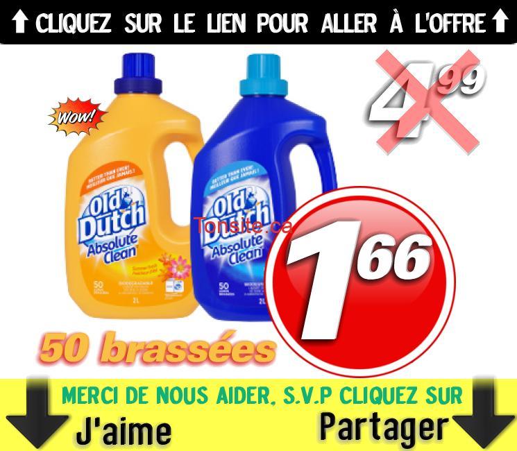 Détergent à lessive Old Dutch (50 brassées) à 1,66$ seulement!