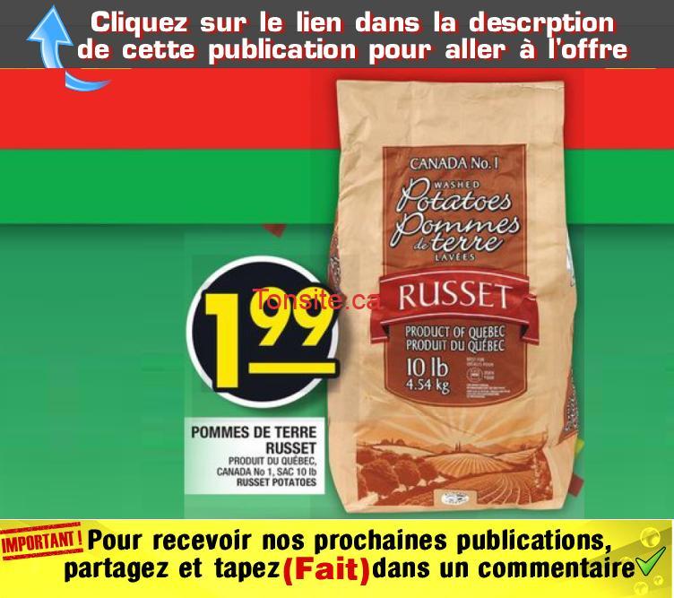 russet 199 officiel - Sac de pommes de terre (10 livres) à 1,99$ seulement!