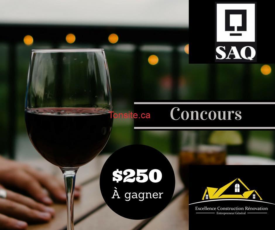 saq 250 - Gagnez une carte-cadeau la SAQ de 250$