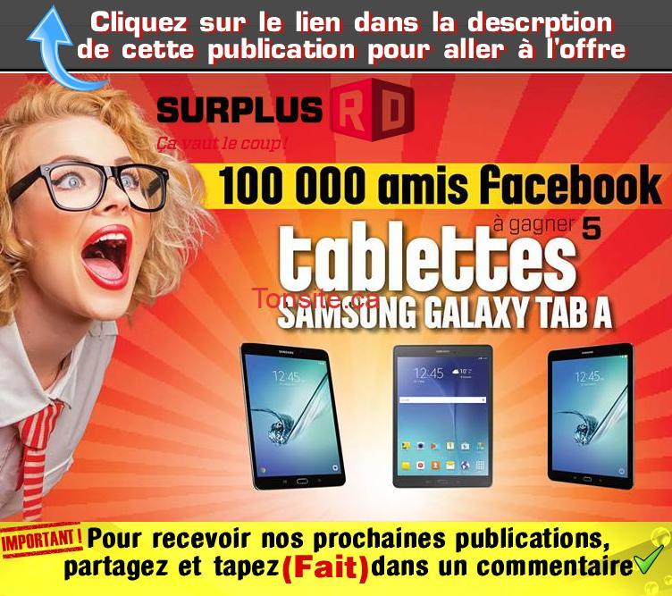 surplus rd concours - Concours Surplus RD: Gagnez 1 des 5 tablettes Samsung Galaxy Tab A