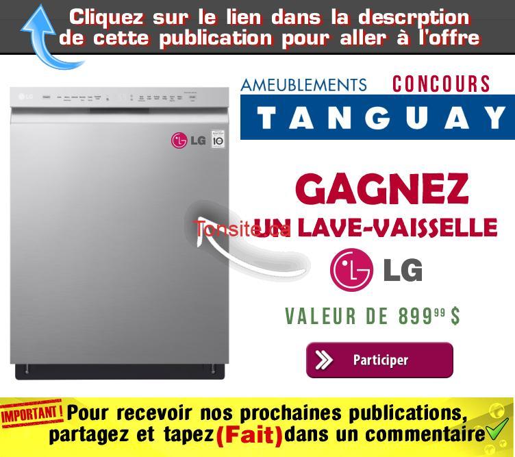 tanguay concours9 - Concours Ameublements Tanguay: Gagnez un lave-vaisselle LG (valeur de 899,99$)