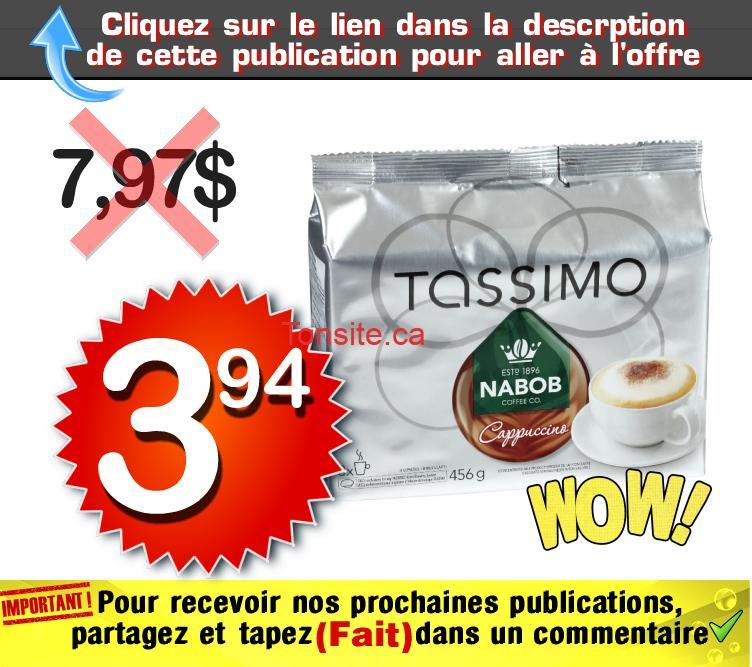 tassimo 394 797 - Café en portions individuelles Tassimo à 3,94$ ai lieu de 7,97$