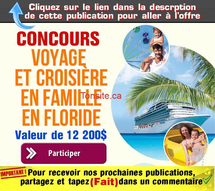 universitas concours - Participez pour gagner un voyage et une croisière en famille en Floride (valeur de 12200$)