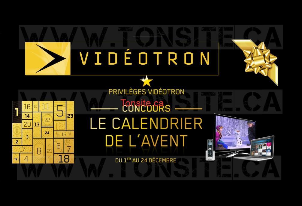 Concours Calendrier.Concours Calendrier De L Avent Videotron 24 Prix A Gagner
