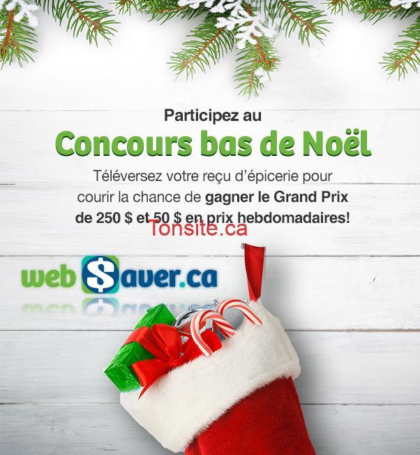 Concours Websaver: Gagnez un grand prix de 250$ ou 1 des 3 prix de 50$