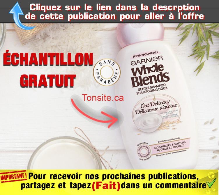 whole blends gratuit - GRATUIT: Obtenez un échantillon gratuit de la nouvelle gamme de soin pour cheveux Garnier Whole Blends