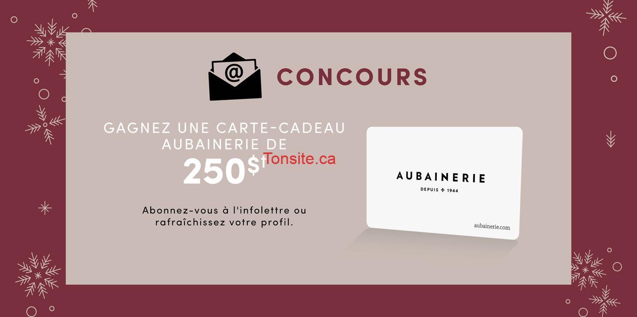 aubainerie concours250 - Concours: Gagnez une carte-cadeau Aubainerie d'une valeur de 250$