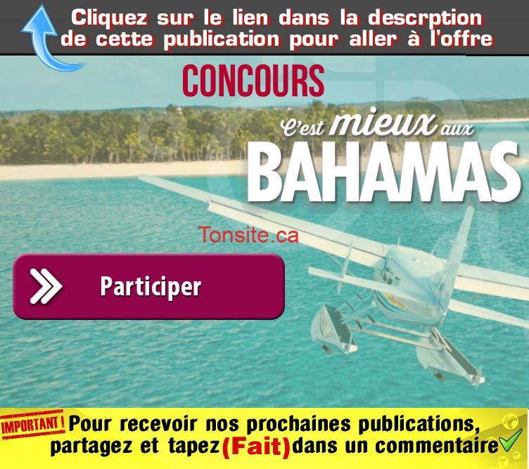 bahamas concours - Concours: Gagnez 1 des 3 séjours vacances à Nassau Paradise Island (valeur de 3200$)