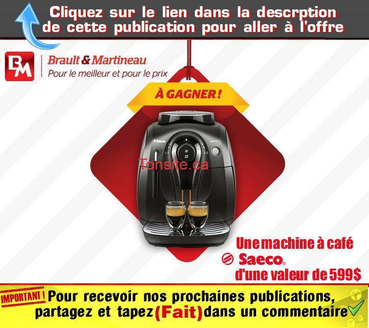 brault martineau concours17 - Concours Brault & Martineau: Gagnez une machine à café Saeco d'une valeur de 599$