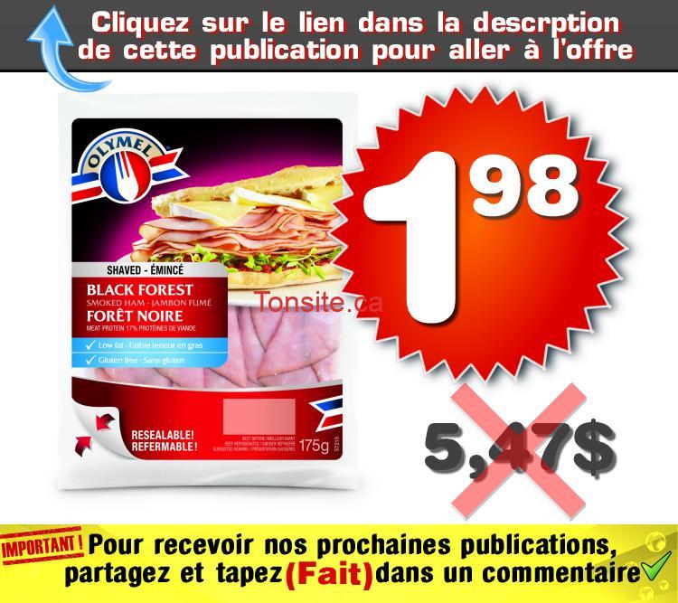 olymel 198 547 - Emballage de charcuterie Olymel à 1,98$ au lieu de 5,47$