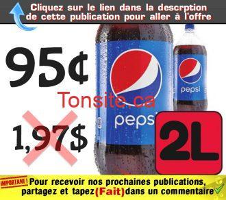 pepsi 7up 95 - Bouteille de Pepsi 2L à 95¢ seulement !