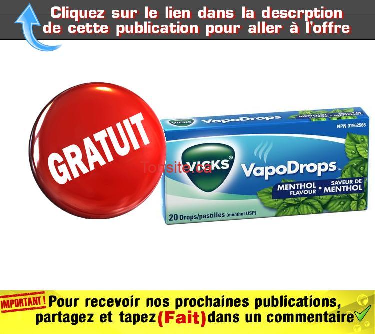 vicks gratuit - Obtenez 20 pastilles de Vicks VapoDrops gratuitement