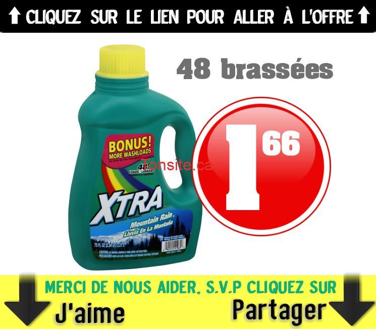xtra 166 - Détergent à lessive Xtra (48 brassées) à 1,66$ au lieu de 4$