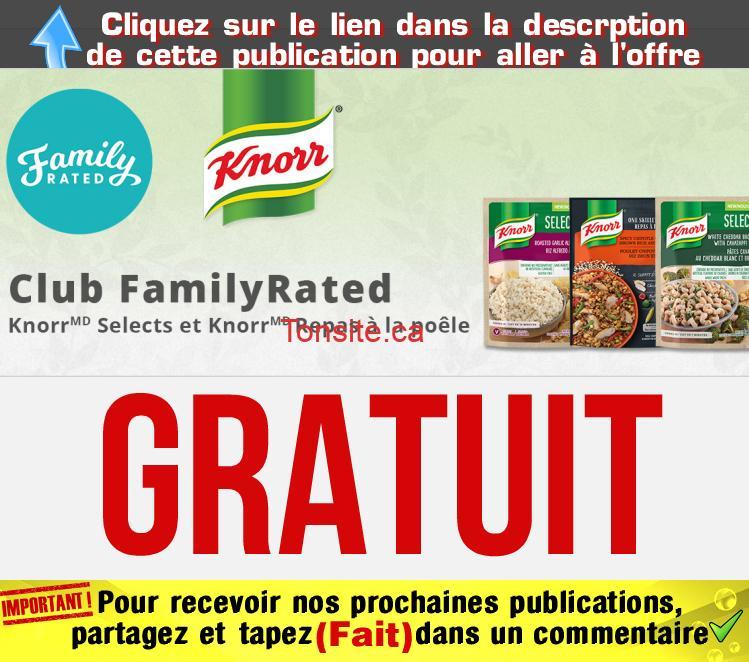 Knorr gratuitç - Obtenez un accompagnement et repas à la poêle Knorr gratuitement!